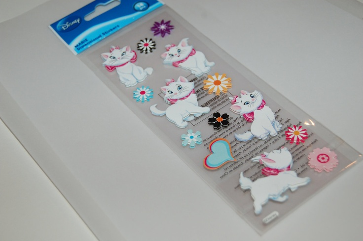 Scrapbook Stickers - DISNEY - EK Sucess - ARISTOCATS - Marie - Cat - Kitty - Scrapping - Scrapbooking. $1.35, via Etsy.