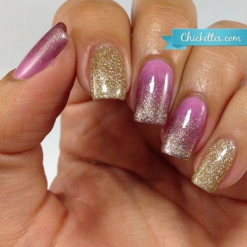 Elegant Lace & Gold Manicure