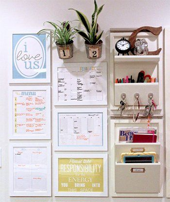 """Hidden"" Family Command Center For Staying Organized"