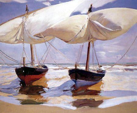 Joaquín Sorolla ~ Beached Boats