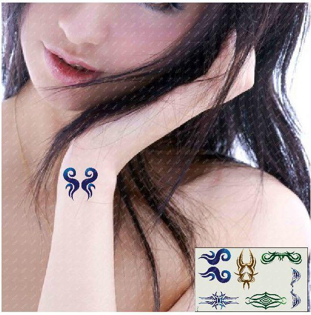 (Минимальный заказ $0.5) временные Татуировки Для Женщин Водонепроницаемый Наклейки макияж maquiagem составляют ОГОНЬ КРУЖЕВА Благородный ПОДАРОК татуировки WM126