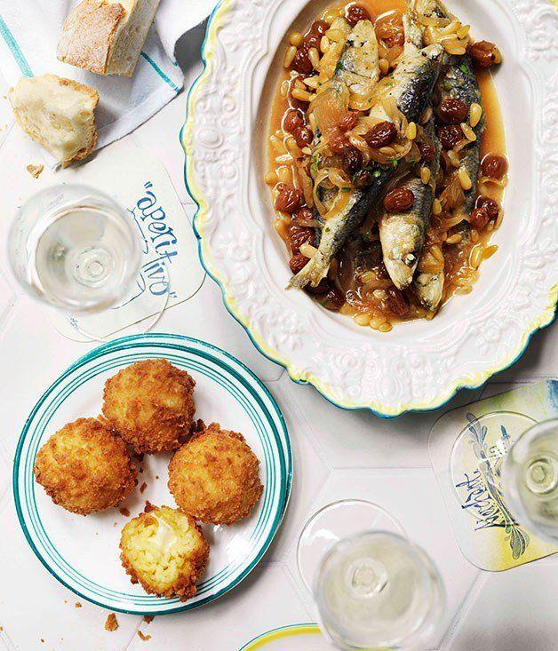 Guy Grossi: Arancini di riso al zafferano (Saffron arancini) - Gourmet ...