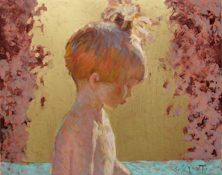Portrait d'enfant,  h.s.t.  27x22cm