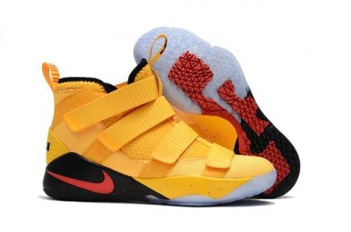69e9f0162211 Nike LeBron Soldier 11 PE Yellow Black and Red For Sale