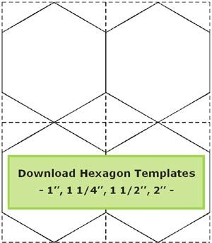 1 5 inch hexagon template - hexagon templates to download 1 1 1 4 1 1 2 and 2