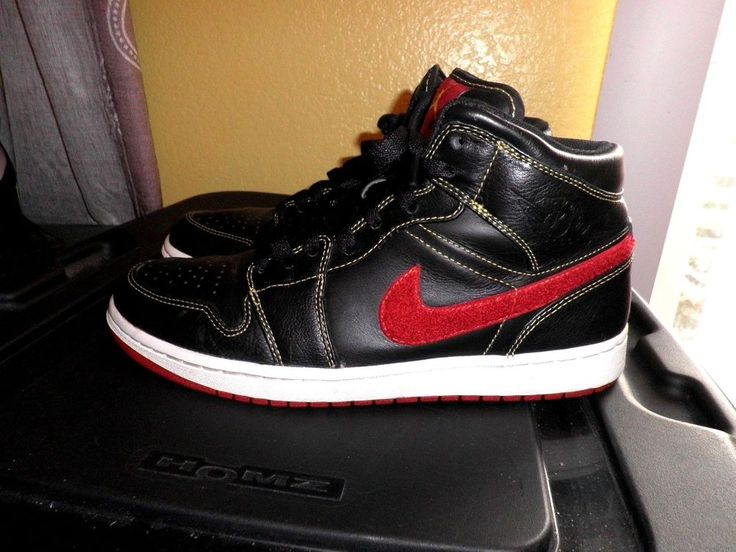 Nike Air Jordan 1 Phat Premier Black Red 375173-052 Size 9 #Nike #