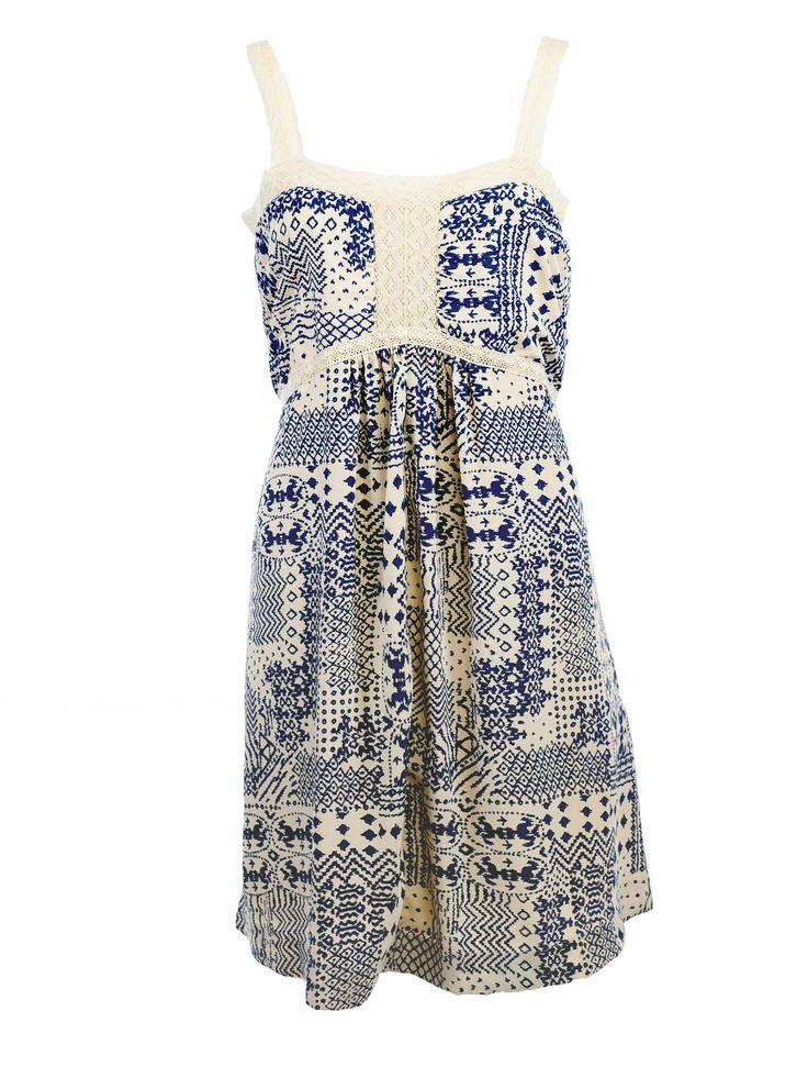 Vintage Silk Aztec Boho Dress dress by Nicole Richie