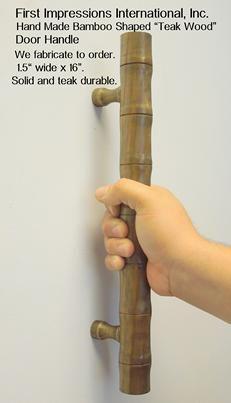 Wood Door Pull Handles , durable wood , teak pulls, commercial door handles, commercial wood door handles