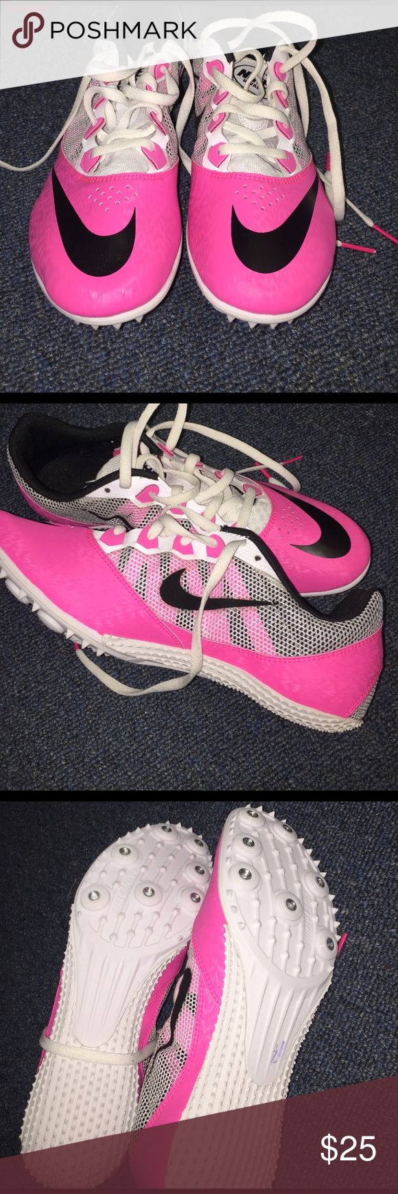 Sprinting Spikes This is for my Track and Field girls!! Picked up these new spikes but never ever wore them, brand new still !! Nike Shoes Athletic Shoes