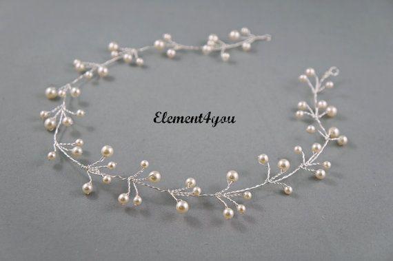 Viti dei capelli da sposa viti di filo d'argento di Element4you