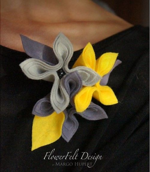 Очаровательные фетровые броши создает Margo Hupert