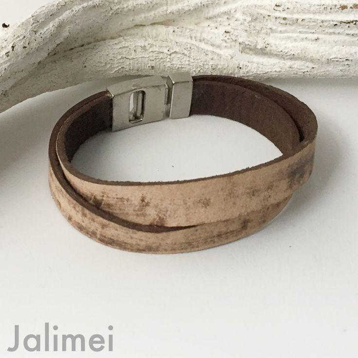 Jalimei - Lederarmband Herren blau