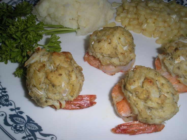 Crab Imperial Stuffed Shrimp.....delicious!  Challenge #5: What's for dinner, Honey?