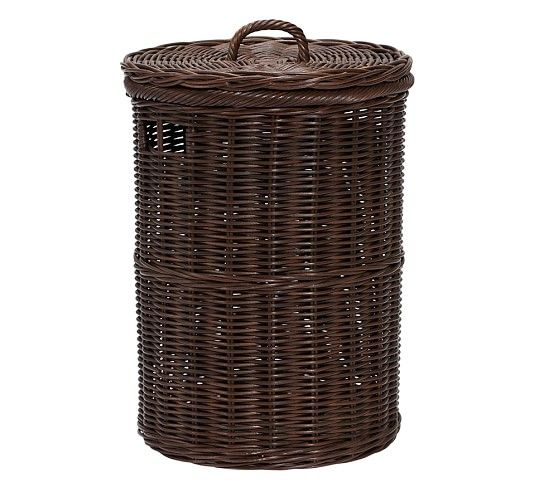 Round Sabrina Hamper Hamper Kids Storage Pottery Barn Kids