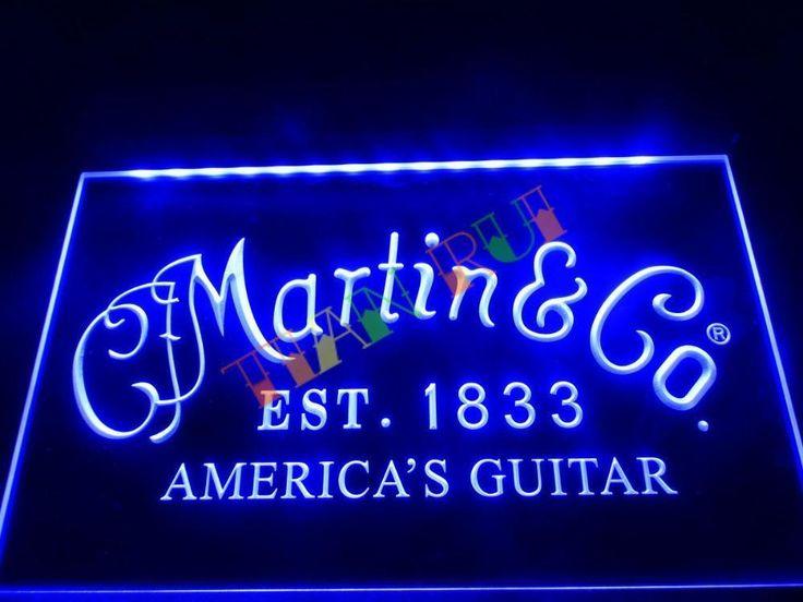 Est 1833 Martin Guitars Acoustic Music America Guitar Club Pub Neon Light Sign #NewClassicalPostmodern