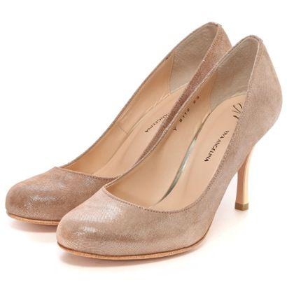 ビバ アンジェリーナ VIVA ANGELINA パンプス(ベージュシルキーメタリック)-「買ってから選ぶ。」靴とファッションの通販サイト ロコンド