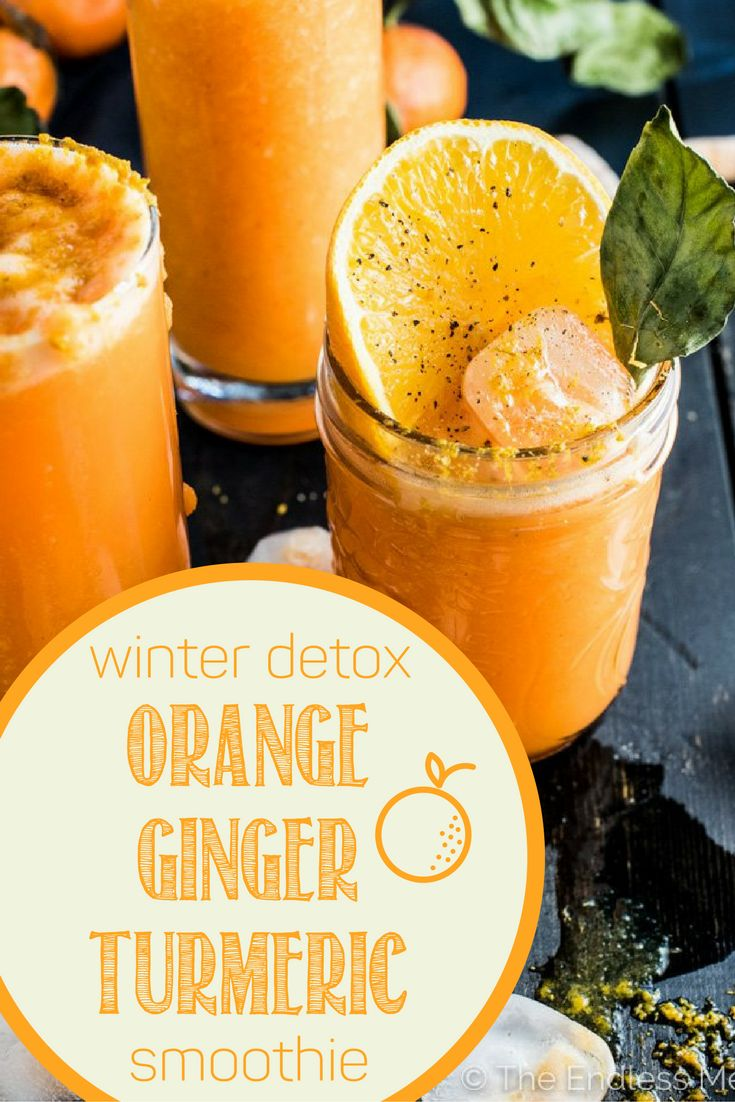 Try this delicious, vegan, super-nutritious winter detox smoothie! This orange ginger turmeric smoothie is both tasty and SUPER good for you! Detox your body and become your healthiest YOU using this recipe.