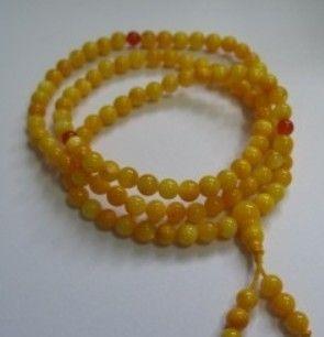 Yellow tridacna tone prayer beads