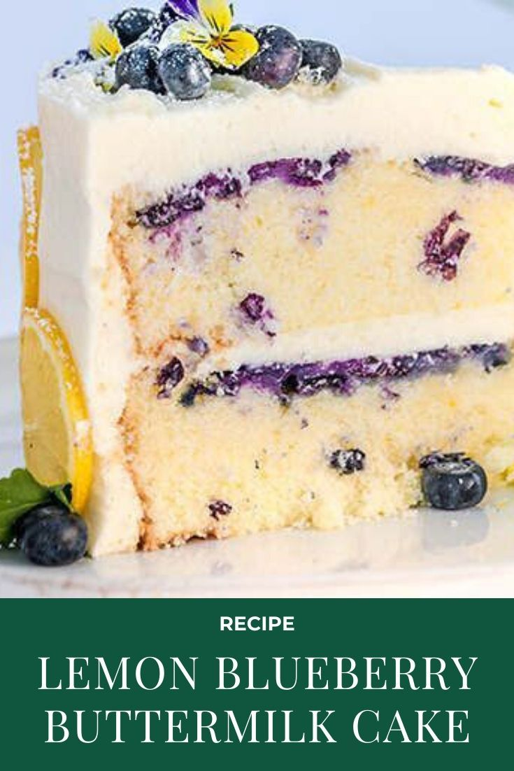 Lemon Blueberry Buttermilk Cake Lemon Cream Cheese Frosting Sugar Geek Show In 2020 Buttermilk Cake Recipe Dessert Recipes Cake