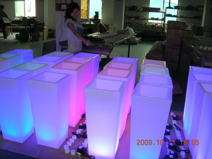 LED Vases - Waterproof for centerpieces - fire and ice