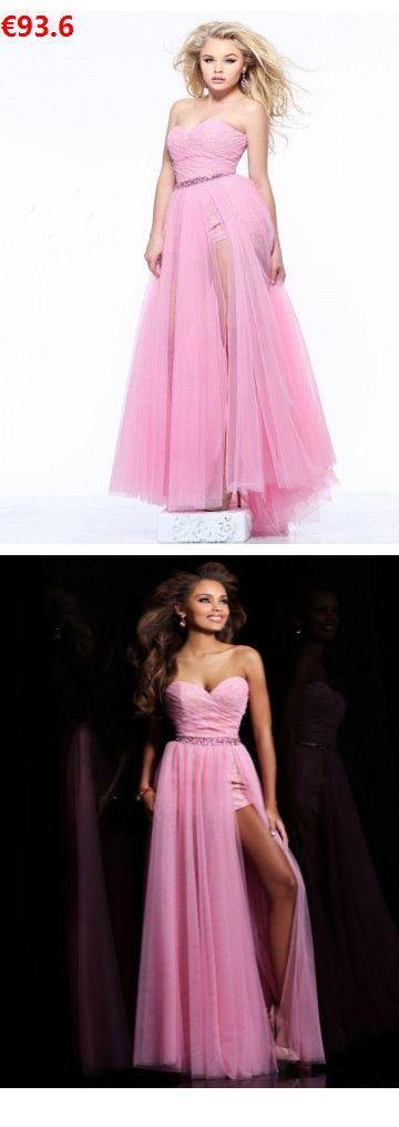 A-Linie Herz-Ausschnitt Rüschen aus Tüll Sweep/Pinsel Zug Ballkleider/Abendkleider Rosa                                 Specifications                                              ÄRMELLÄNGE          Ärmellos                                  AUSSCHNITT          Herz-Ausschnitt                                   RÜCKEN          Nein                                  Saumlänge/Schleppe          Sweep/#tüll#promdresses#Brautkleiderberlin#instabridehautecouture#hochzeitskleider#abendkleider rosa