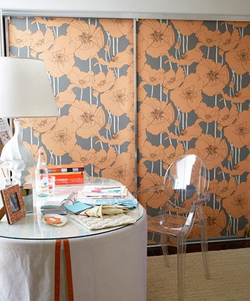 Wallpapers placed on sliding doors