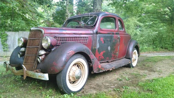 Rusty Driver: 1935 Ford 5 Window Coupe - http://barnfinds.com/rusty-driver-1935-ford-5-window-coupe/