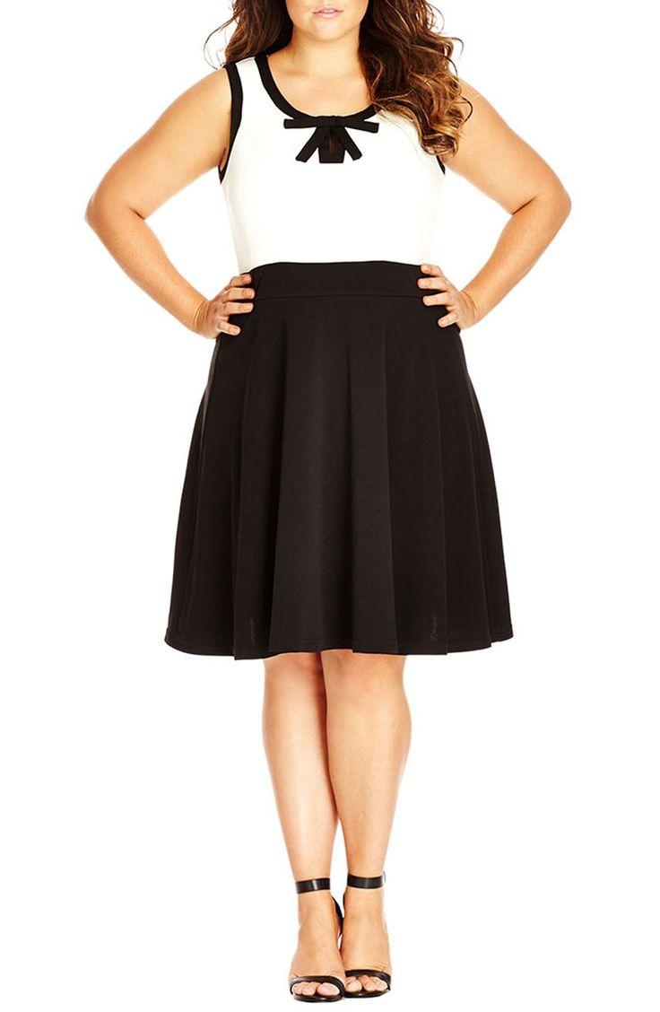 City Chic 'Mod Madness' Sleeveless Dress (Plus Size)