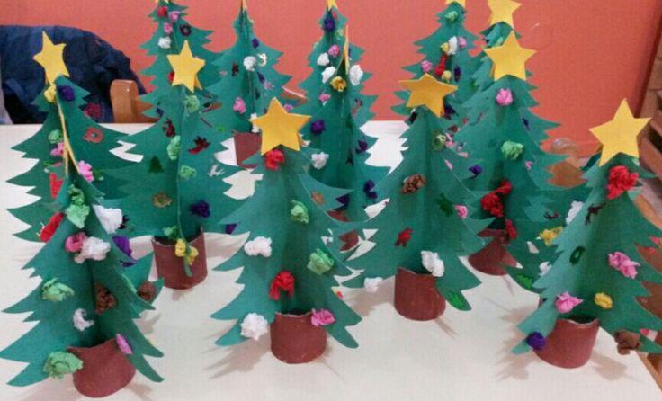 Τρισδιάστατα χριστουγεννιάτικα δεντράκια!