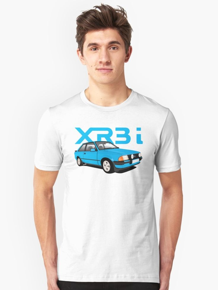 Blue Ford Escort XR3i illustration t-shirt and other gifts.  #ford #escort #fordescort #escortxr3i #xr3i #fordescortmk3 #fordescortxr3i #xr3 #80s #1980s #hothatch #gti #british #automobile #cars #auto #carillustration #tshirt #shirts #blue #fordfan