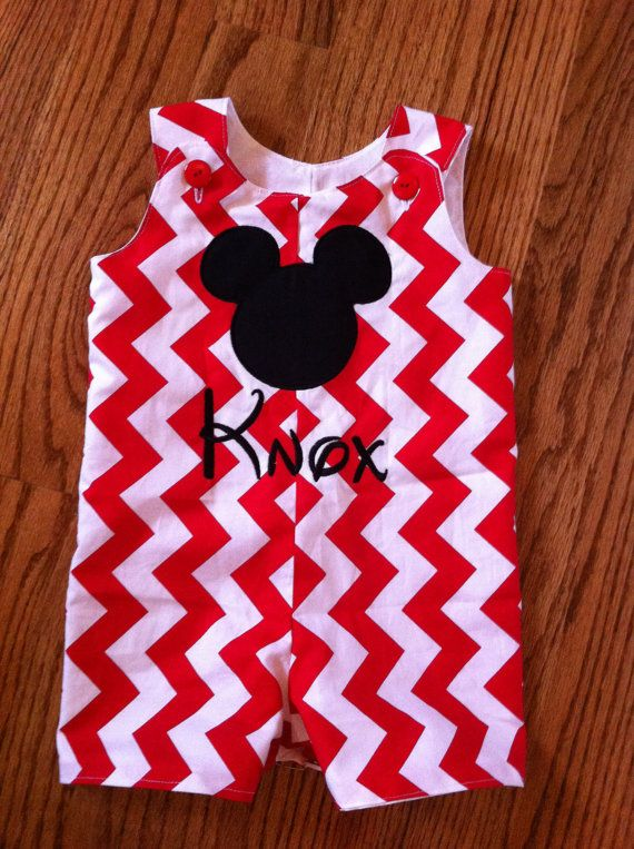 Mickey Mouse Jon Jon for your Disney vacation Chevron. Brother/Sister set also available