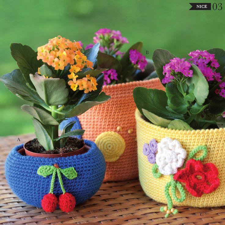 17 Best images about Crochet Plant Pot, Jar Lid & Cover ...