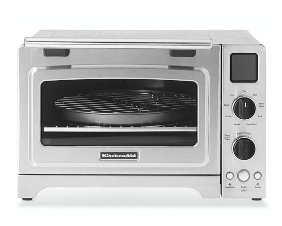 KitchenAid® Digital Countertop Oven- Nine pre-programmed functions include pizza, bake, broil, asado roast, cookies, toast, bagel, keep warm and reheat – plus the option of convection or frozen modes.
