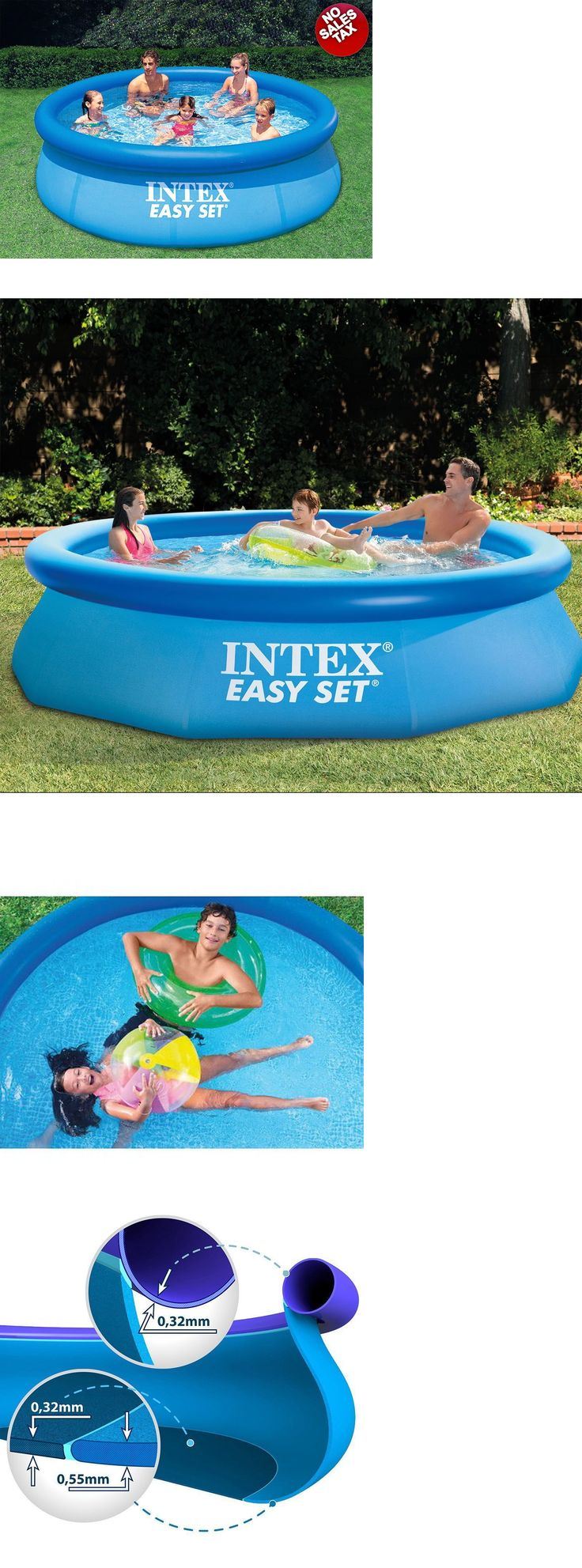 Above-Ground Pools 116405: Intex 10 Ft X 30 In Deep Easy Set Above Ground Family Swimming Pool Super-Tough -> BUY IT NOW ONLY: $69.95 on eBay!