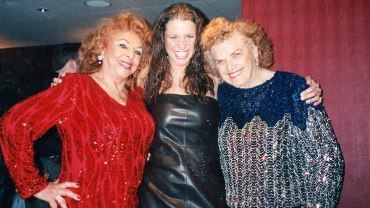 Stephanie McMahon, Mae Young and The Fabulous Moolah - WWE New York 2000