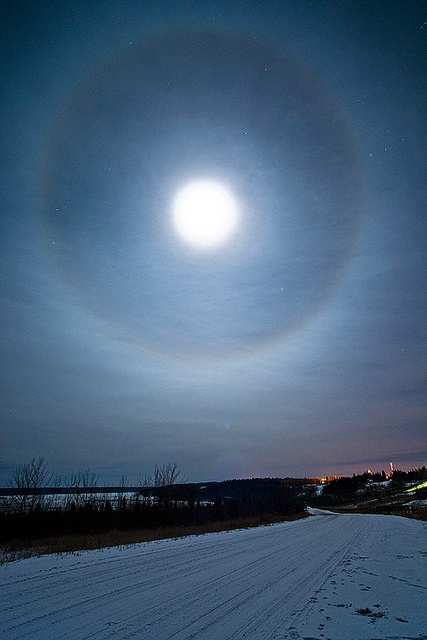 Moon Ring, Northwest Territories. You don't particularly want to see this as it's an indicator that the weather will turn VERY cold.