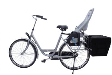 Practical Cycles. Steco Tas Mee Easy Mount Pannier Rack Extension - Combine Child Seats & Bags