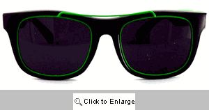 Gilly Metal Accent Wayfarers Sunglasses - 253 Green