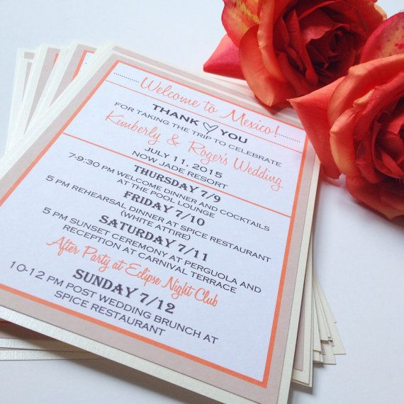 Wedding Notes: 1000+ Ideas About Welcome Card On Pinterest