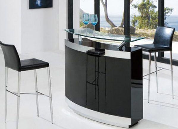 Meuble noir bar de salon