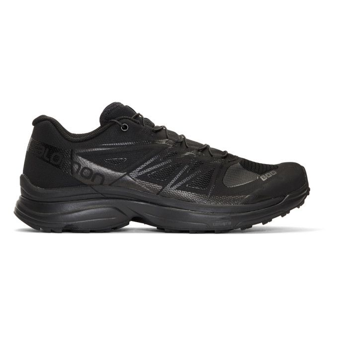 SALOMON Black Limited Edition S-Lab Wings 8 Sneakers. #salomon #shoes #