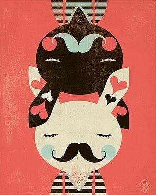 : Graphic, Illustrations, Art, Bunnies, Mustache, Friend, Design, Kid
