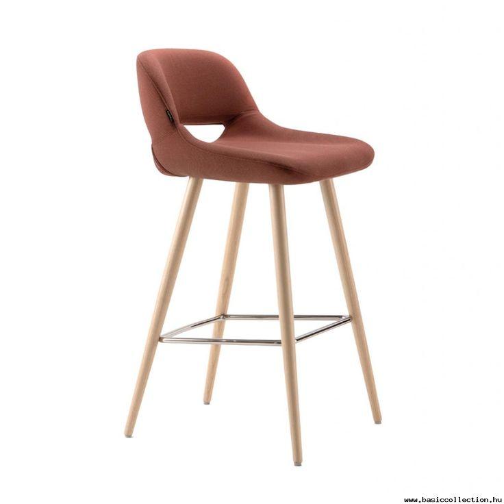 Sista B barstool #basiccollection #barstool #upholstered #wooden #metal
