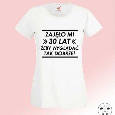 Koszulka urodzinowa z nadrukiem. Damski t-shirt na prezent