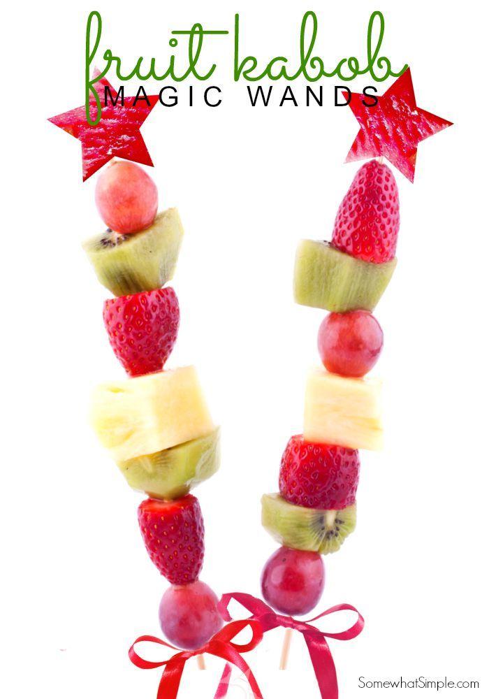 Healthy fruit kabob treat