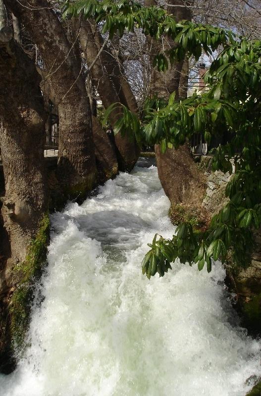 Small river in Edessa, North Of Greece