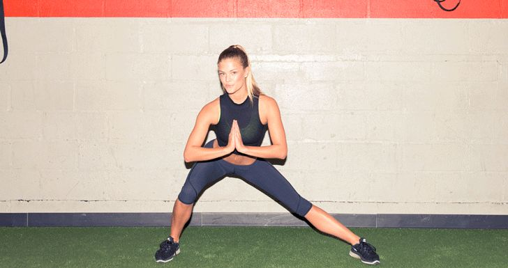 TIP: Reach out in front for a counter balance. Keep your shin as vertical as possible—think hips back, rather than knee forward. http://www.thecoveteur.com/nina-agdal-workout/