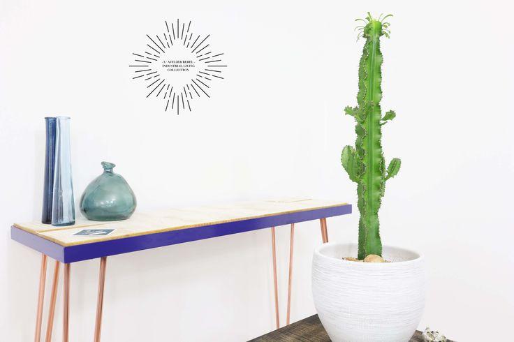 L'Atelier Rebel - Retro copper 60's hairpin design table   Retro 60's haarpin eettafel tafel - Industrial Chic Living - #tafel #designtafel #eetkamer #wonen #La Rebel #haarpin #hairpin #retro #chic #living #sidetable #copper