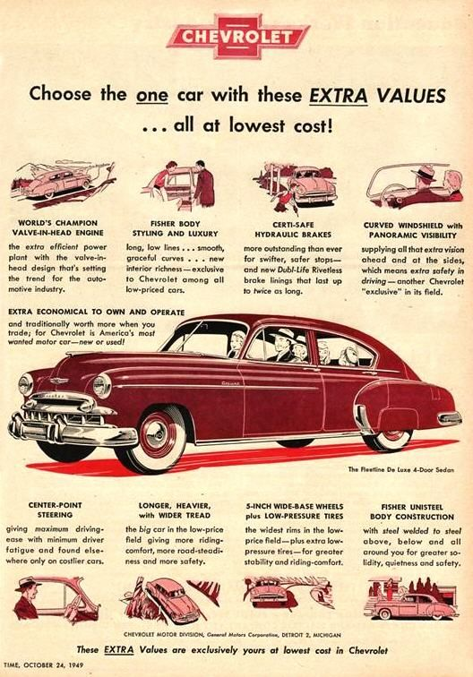 1949 Chevrolet - our first brand new car