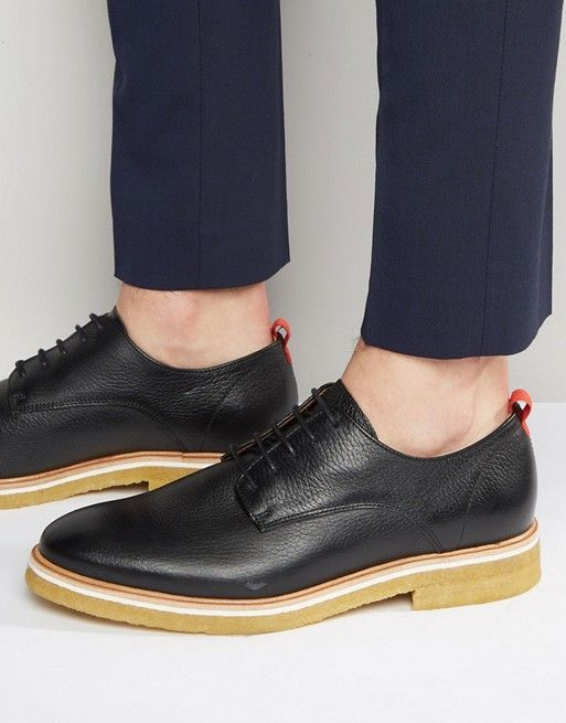 Zign Leather Crepe Sole Derby Shoes - $89.00